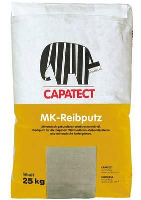 CAPATECT MK-REIBPUTZ Hochvergüteter, mineralisch gebundener Edelputz-Trockenmörtel auf Kalk/Zement-Basis, eingefärbt und wasserabweisend, mit Korn-an-Kornstruktur