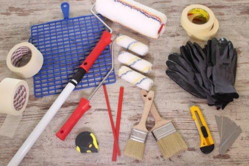 Werkzeugaktion für den Maler