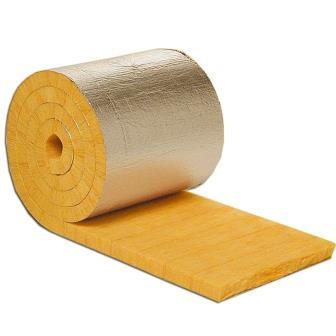 ISOVER Lamell-Isoliermatte: Einseitig mit nichtbrennbarer, armierter Reinalu-Folie beschichtete und druckfeste Glaswolle-Lamellen zur Wärmedämmung von Rohren, Kanälen, Behältern und Kesseln.
