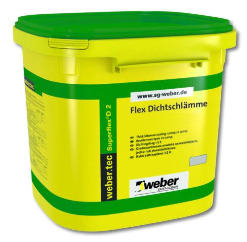 Weber.Tec Superflex D2 Abdichtung Baufuzzi online Baustoffhandel Baustoffshop